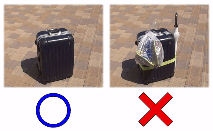 kumano kodo luggage shuttle bag conditions