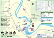 Wataze Onsen Map